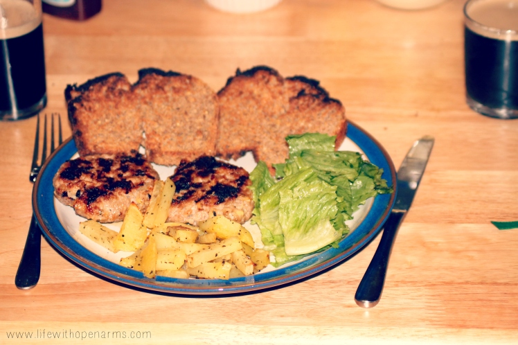 Claire's Healthier Burger & Chips
