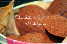 Chocolate & Coconut Madeleines