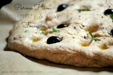 Parma Ham, Rosemary & Olive Focaccia