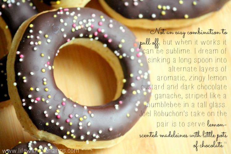 Lemon & Chocolate Doughnuts - quote