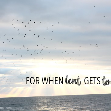 For When Lent Gets Tough... | Life With Open Arms - some words of empathy and encouragement for those who are finding their Lenten promises are getting harder...
